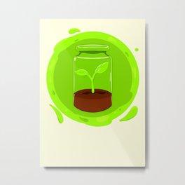 Cute plant/Green. Metal Print