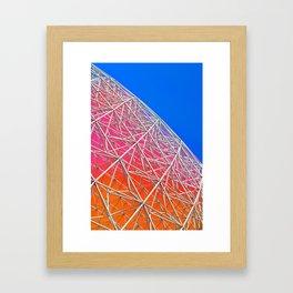 Rainbow Biosphere Mesh Framed Art Print
