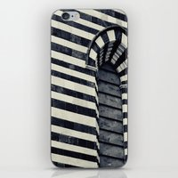 striped iPhone & iPod Skins featuring Striped by farsidian