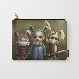 Horror Bunnies - Parody of Jason, Freddy and Michael Myers Carry-All Pouch