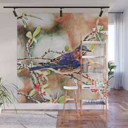 Eastern Bluebird Dream | Painting Wall Mural
