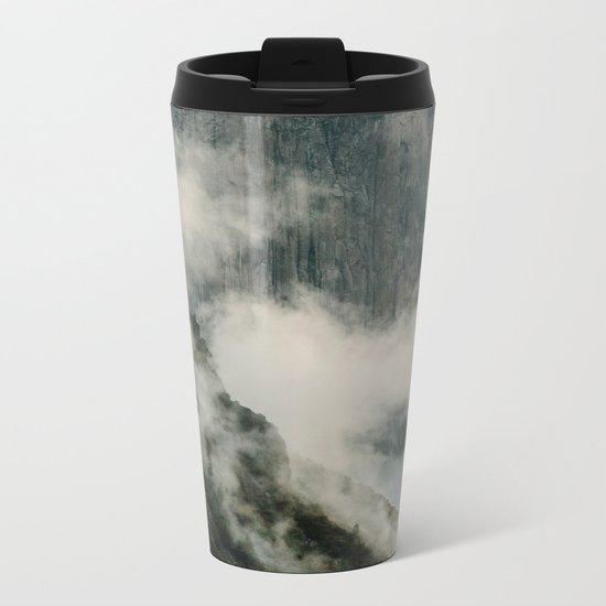 Yosemite fog Metal Travel Mug