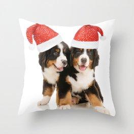 Cute Puppy Twins Throw Pillow