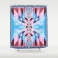 snowflake Shower Curtains featuring Snowflake by Kristine Rae Hanning