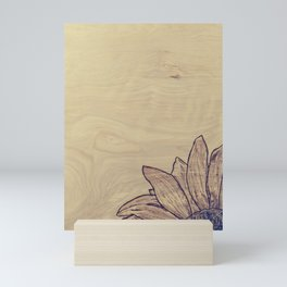 Wood burned Sunflower Mini Art Print