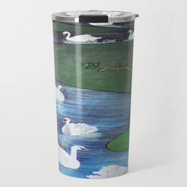 A Flock of Seven Swans-A-Swimming Travel Mug