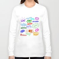 comic Long Sleeve T-shirts featuring Comic Phrases by ErikMcManusInc.