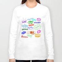 comic Long Sleeve T-shirts featuring Comic Phrases by ErikMcManusInc.