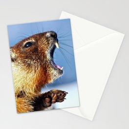 Marmot Yawn Stationery Cards