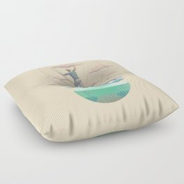 Clouds fisherman Floor Pillow