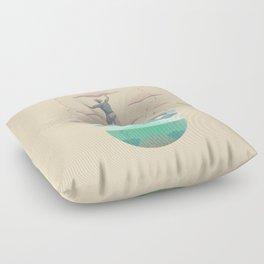 Clouds fisherman Floor Pillow