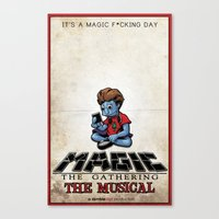 magic the gathering Canvas Prints featuring Magic The Gathering The Musical by Molly Coffee