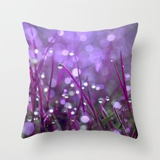 Fairy Drops Pink Throw Pillow