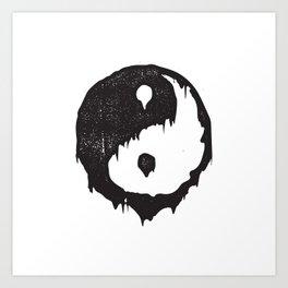 Ying Yang / Dark Light Art Print