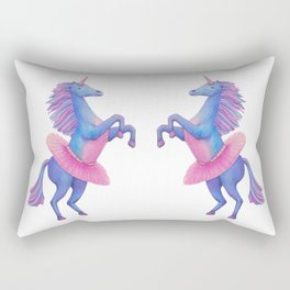 Unicorn Ballerina Rectangular Pillow