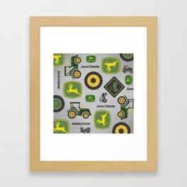 Farm Tractor - Green Framed Art Print