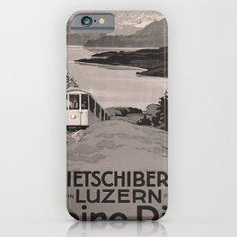 retro dark Kleine Rigi old psoter iPhone Case