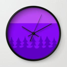 pines at twilight Wall Clock