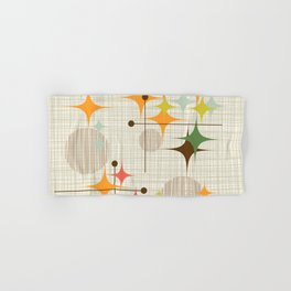 Mid Century Modern Starbursts and Globes 3a Hand & Bath Towel