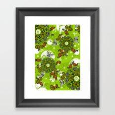 butterfly carousel Framed Art Print