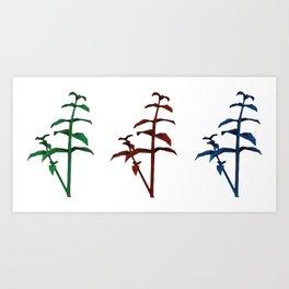 resident evil herbs plants Art Print