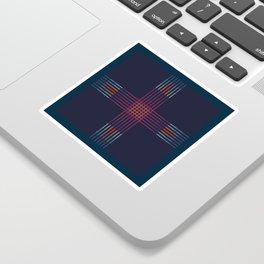 Multicolor Cross Sticker