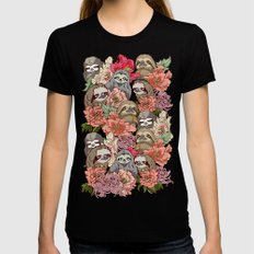 Because Sloths MEDIUM Womens Fitted Tee Black