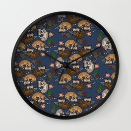 Book Cats Wall Clock