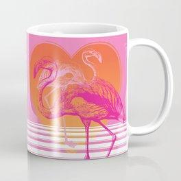 Flamingos at Sunset | Pink Flamingos | Vintage Flamingos | Two Flamingos | Flamingo | Modern Retro | Coffee Mug