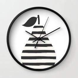 Pear in stripes Wall Clock