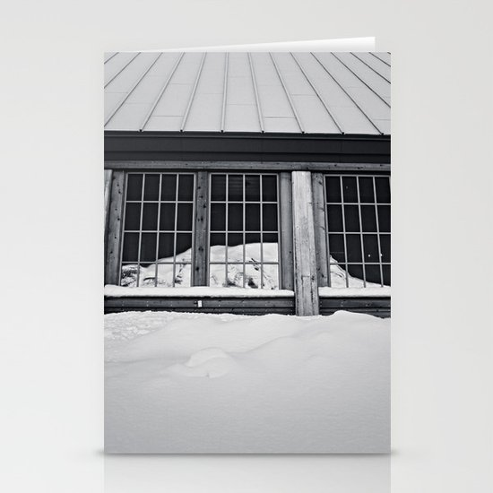 reflected rainier Stationery Cards