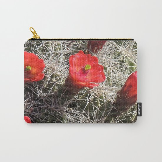 A Hedgehog Cactus Looks Sunward Carry-All Pouch