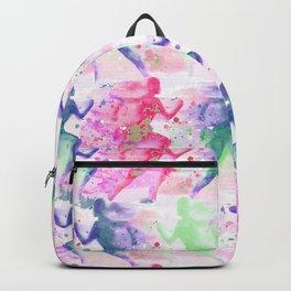 Watercolor women runner pattern Backpack