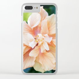 Jane Cowl Tropical Hibiscus Clear iPhone Case