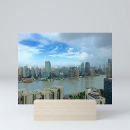 View of the Huangpu river, Shanghai, China Mini Art Print
