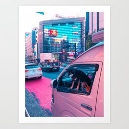 Fluffy Driver Art Print