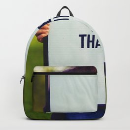 Give Thanks Sign (Color) Backpack