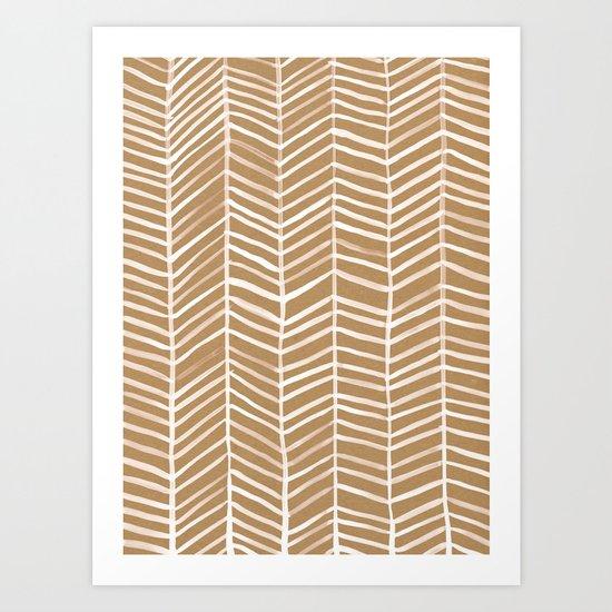 Kraft Herringbone Art Print