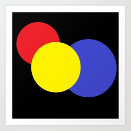 Red Yellow & Blue : Mod Circles Art Print