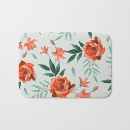 Paper-cut floral peach Bath Mat