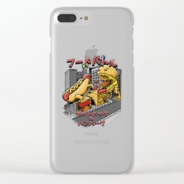 hotdog vs hambuger Clear iPhone Case