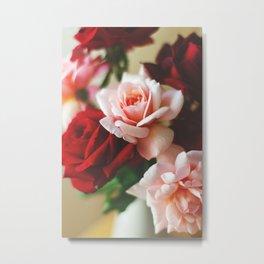 Pink and red rose Metal Print