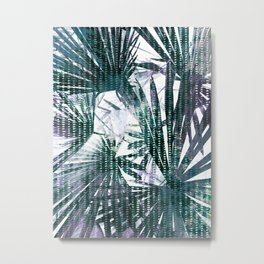Fan Palms Theme Metal Print