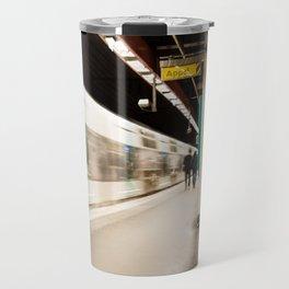 Fast train at the station Travel Mug