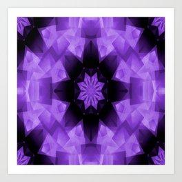 Purple Star in the Night.... Art Print