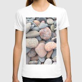 Watercolor Rock, Pebbles 05, Cape Breton, Nova Scotia, Canada, No Worries Here T-shirt