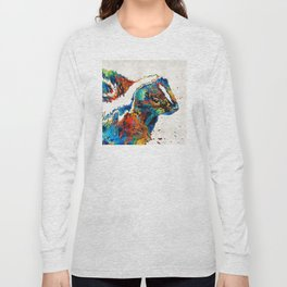 Colorful Skunk Art - Dee Stinktive - By Sharon Cummings Long Sleeve T-shirt