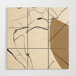 abstract nude 2 Wood Wall Art