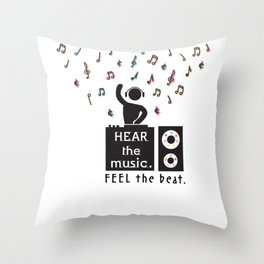 Playing the Mood Throw Pillow