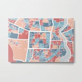 Chiang Mai map Metal Print